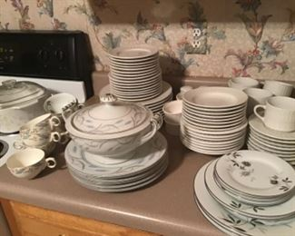 Several sets of dishes