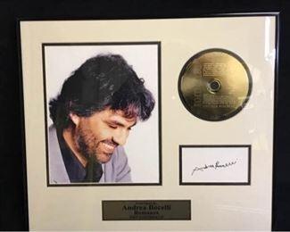 027hFramed Bocelli Autograph  CD