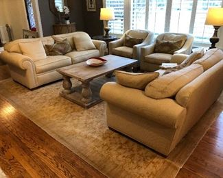 LOVELY DESIGNER LIVING ROOM SET, Custom Designed by Diane Breckenridge Interiors