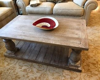 PLANK WOOD COFFEE TABLE