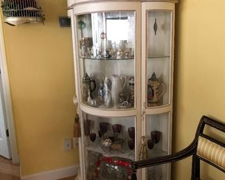 Curio cabinet and most of the contents