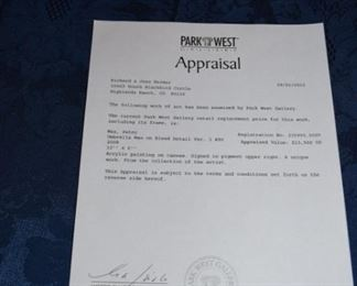 "Peter Max ""Umbrella Man"" Appraisal"