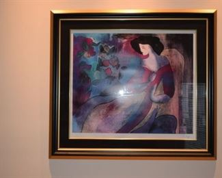 """Annabella"" By Linda Le Kinff 2007 24"" X 29"" Seriolithograph In Color On Wove Paper Signed In The Plate."
