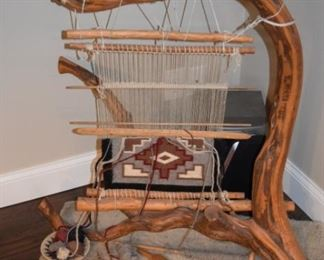Indian Loom With Storm Blanket Weave Process
