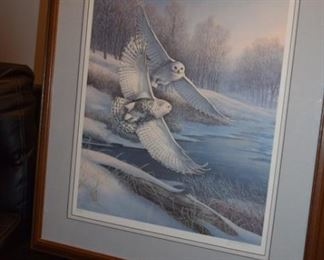 """Snowy Courtship"" By James A Meger Snowy Owls 622/750. 39"" X 29"""