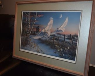 """Crescendo"" By James Meger 1174/1500. 39"" X 29"" Snowy Owls"