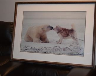 """Polar Kiss"" Photograph By Thomas D Mangelsen. 1167/2000. Images of Nature. 39"" X 29"""