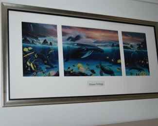 """Ocean Trilogy"" By Wyland Seriolithograph 36"" X 18"""