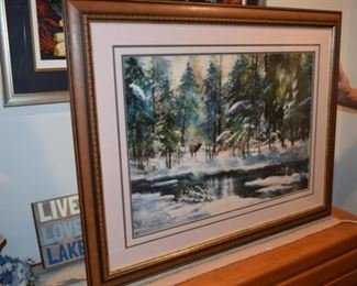 """Breath Of Winter"" By Milton Lewis 538/950. Artist Signed Print. 31"" X 39"""