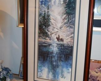 """Cozy Creek Crossing"" By Milton Lewis 634/950. 24"" X 30"""