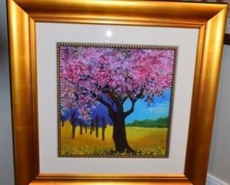 """Rose Tree"" By David Najar 17 7/8"" X 17 7/8"" Giclee On Paper Hand Signed 56/75 Artist Proof"