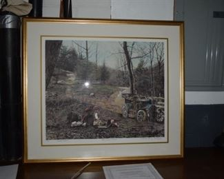 """The Open Road"" By Richard Doyle Embossed Lithograph Twig Painting Hand Colored. 33"" X 37"" 357/495"