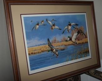 """Down From The North Mallard Ducks"" By Cynthie Fisher. 16"" X 22"" 573/4850"