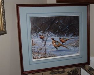 """Pheasants"" By Mark Anderson 16"" X 20"" AP 143/160"