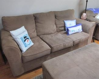Brown Micro Fiber Sofa