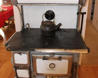 Universal Enamel Antique Wood Stove