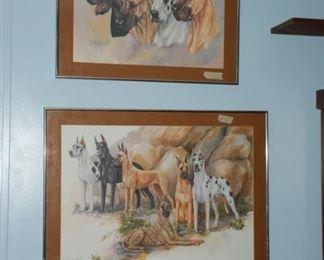 signed prints of Great Danes signed by Marcia Van Woert
