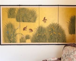 Japanese 4 panel screen 71 x 36""