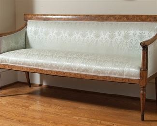 Antique inlaid sofa, 68""