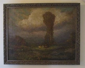 SIGNED AND DATED OIL ON CANVAS BY GEORGE WILLIAM WHITAKER DATED 1915 - THE YEAR BEFORE HE DIED