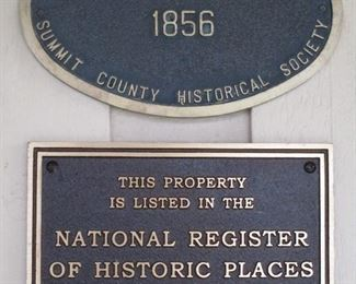 PLAQUE ON THIS WONDERFUL CENTURY HOME WITH SCENIC PROPERTY