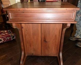 Antique Ship Captain's  Davenport Desk (see next pictures.  Drawers are on both sides)  $135.