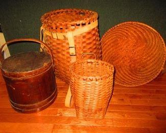 Adirondack Baskets, Firkin, Double Eagle Handled Basket