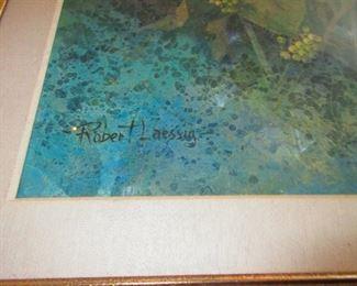 Signature on Large Rober Laessig