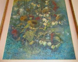 Large Robert Laessig Watercolor