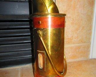 Antique Brass Match Holder