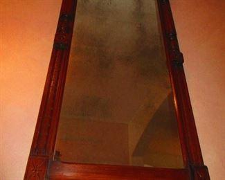 Antique Late Victorian Mirror Retaining Original Mirror