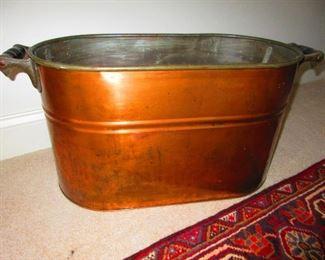Antique Copper Wash Tub