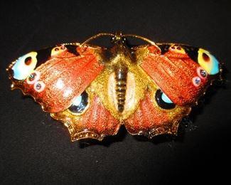 Enameled Butterfly Box
