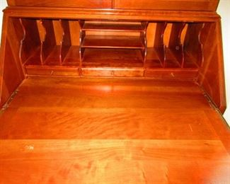Detail of Maddox of Jamestown Secretary Desk with Convex Glass Panels