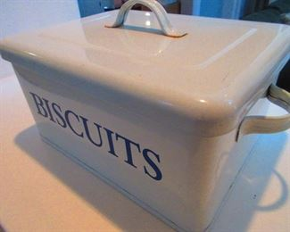 Enameled Biscuit Box