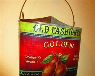 Decorative Tin Wall Basket