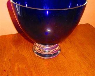 Cobalt Bowl on Clear Base