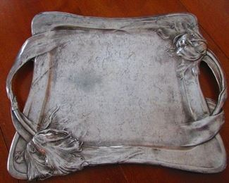 French Art-Nouveau Pewter Tray