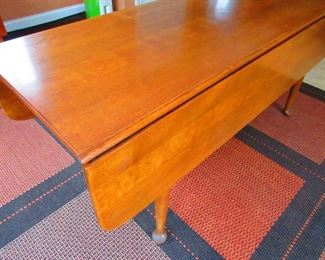 Detail of Drop Leaf Maple Table