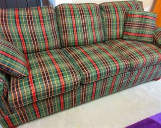 Plaid Sofa