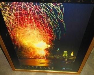 Framed Cleveland Poster