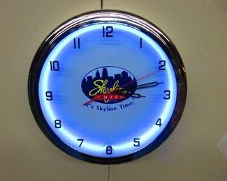 Skyline Chili Clock