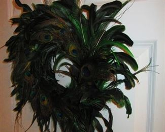 Wreath of Peacock Feathers
