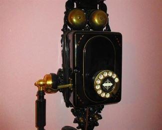 Antique Enameled French Phone