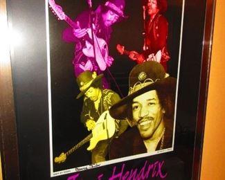 Jimi Hendrix Framed Poster