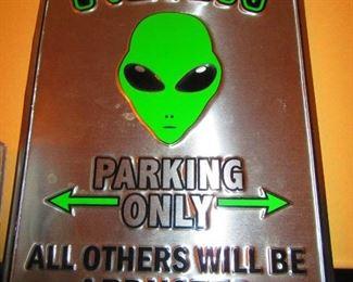 Alien Parking Sign
