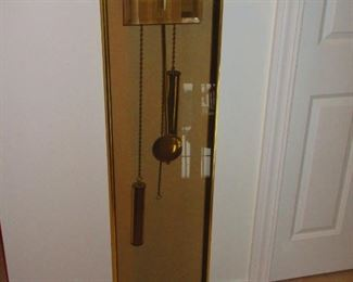 Contemporary Brass and Smoked Glass Clock