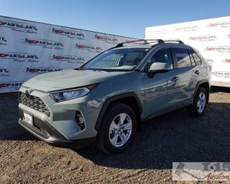 2019 Toyota RAV4 with only 3,821 Miles! Year: 2019 Make: Toyota Model: RAV4 Vehicle Type: Multipurpose Vehicle (MPV) Mileage: 3,821 Plate: 8JBP858 Body Type: 4 Door Wagon Trim Level: XLE Drive Line: FWD Engine Type: L4, 2.5L Fuel Type: Gasoline Horsepower: Transmission: Auto VIN #: JTMW1RFV6KD503316  Features and Notes: Push button start. Dual climate zones, heated front seats. Power seats, windows, locks, and mirrors. Has sun roof. Back up camera. Auto lift trunk.  DMV fees: $28 and $70 doc fees