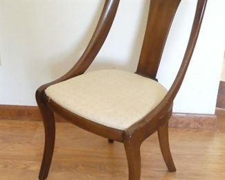 1950s wooden living room chair