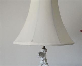 Vintage Light with marble base & cherub (1940s)
